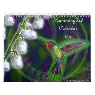 Hummingbird Calendar 2014 Custom Printed Calendar