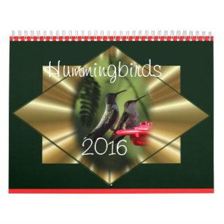 Hummingbird Calendar 2016- change year as needed