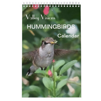 Hummingbird Calendar By Valley Visions