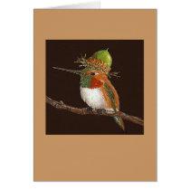 hummingbird card, (Rufous) Card