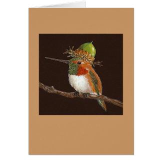 hummingbird card, (Rufous) Greeting Card