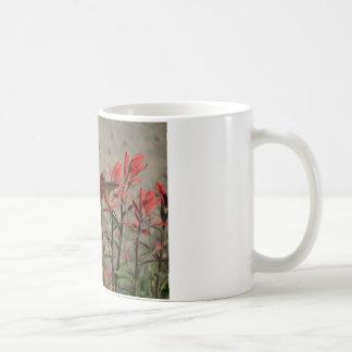 Hummingbird cardinal flowers classic white coffee mug
