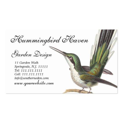 hummingbird cards garden designer gift shop etc business card - Garden Design Business Cards