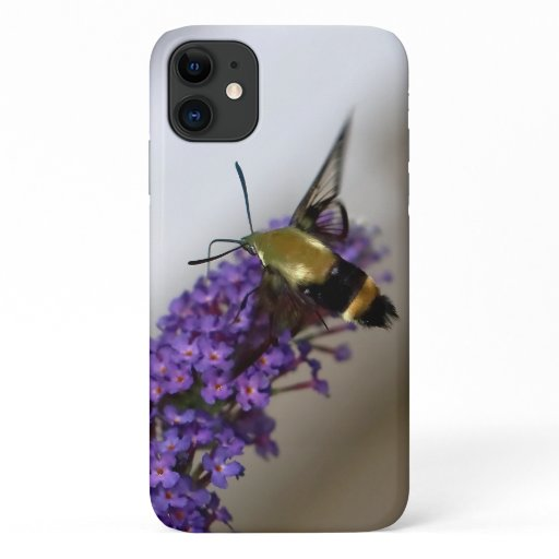 Hummingbird Clearwing Moth, iPhone Case. iPhone 11 Case