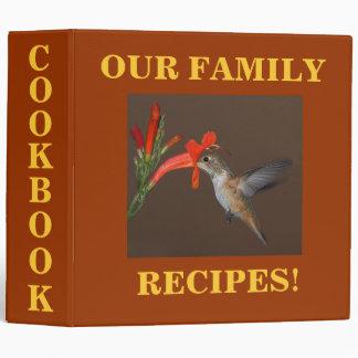HUMMINGBIRD COOKBOOK BINDER