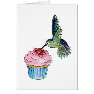 Hummingbird Cupcake Love Card