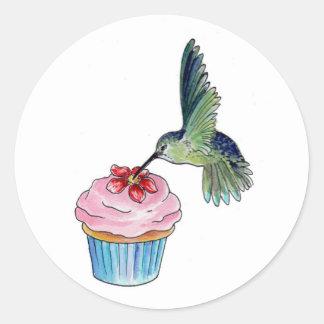 Hummingbird Cupcake Love Classic Round Sticker