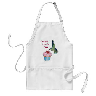 Hummingbird Cupcake Love is in the Air Adult Apron