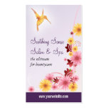 Hummingbird Daisy Aesthetics Salon Double-Sided Standard Business Cards (Pack Of 100)