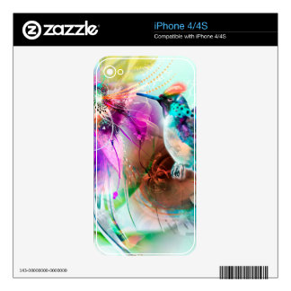 Hummingbird Decal For The iPhone 4