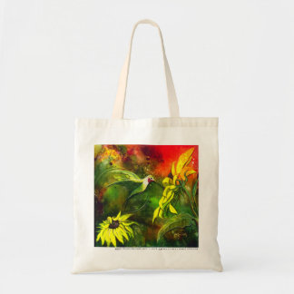 Hummingbird Delight with Sunflowers by GG Burns Tote Bag