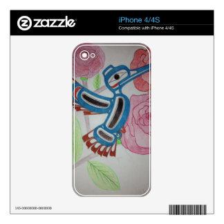 Hummingbird Design Skin For The iPhone 4