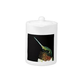 Hummingbird design teapot