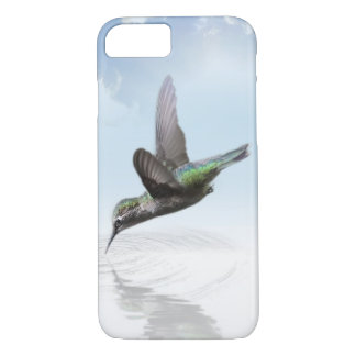 Hummingbird diving into water illustration iPhone 7 case