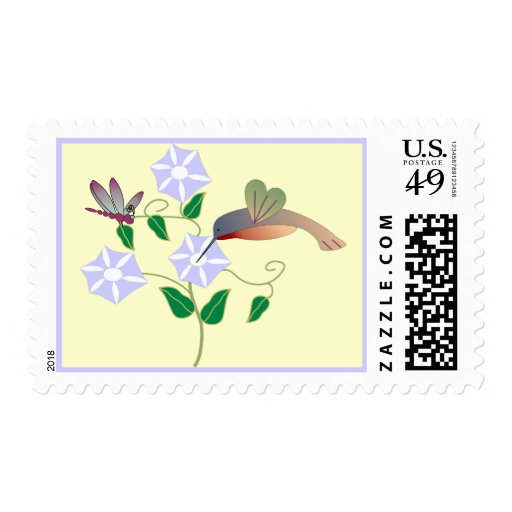 Hummingbird & Dragonfly Postage