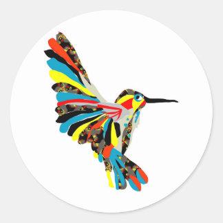 hummingbird drawing classic round sticker