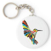 hummingbird drawing keychain