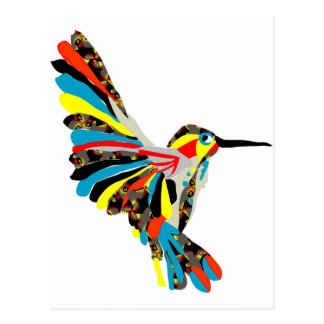 hummingbird drawing postcard