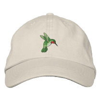 Hummingbird Embroidered Baseball Hat