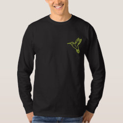 Hummingbird Embroidered Long Sleeve T-Shirt