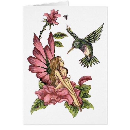 Hummingbird Fairy Card