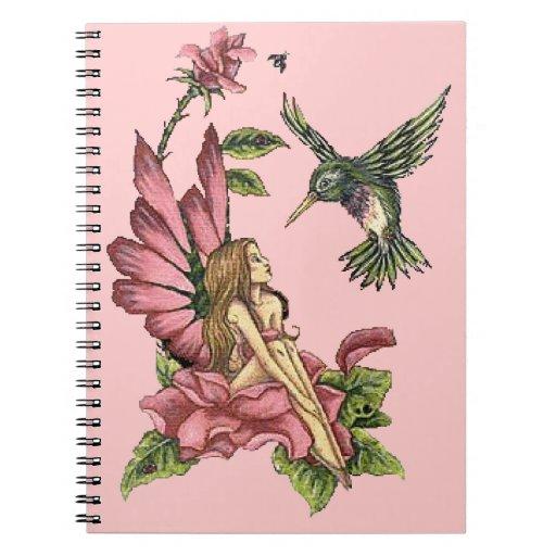 Hummingbird Fairy Spiral Notebook