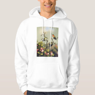 Hummingbird Family and Apple Blossom Hoodie