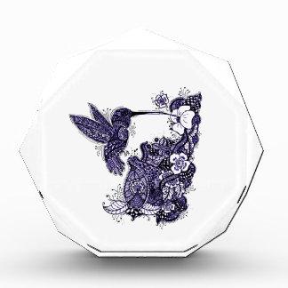 Hummingbird Feeding Acrylic Award