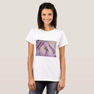 Hummingbird Feeding on Purple Salvia Flower T-Shirt