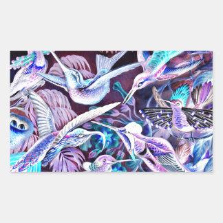 Hummingbird Fine Art Rectangular Sticker