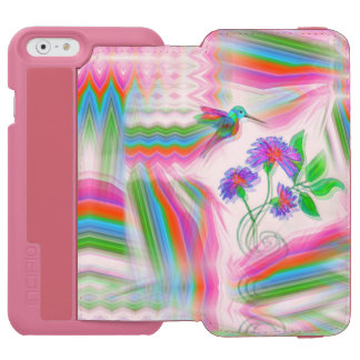 Hummingbird Flight Kaleidoscope iPhone 6/6s Wallet Case