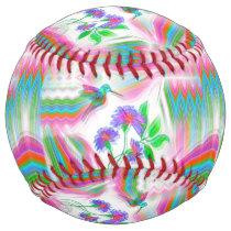 Hummingbird Flight Kaleidoscope Softball