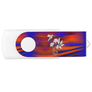 Hummingbird Flight Sunset Blush USB Flash Drive