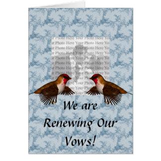 Hummingbird Floral Blue Greeting Card