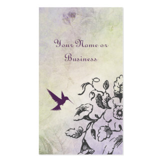 Hummingbird Floral Business Personal Calling Cards Business Card Template