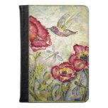 Hummingbird Floral Original Art Kindle iPad Covers