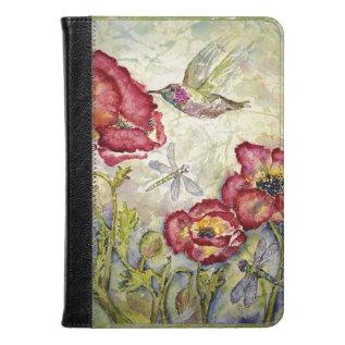Hummingbird Floral Original Art Kindle Ipad Covers at Zazzle
