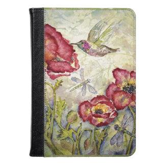 Hummingbird Floral Original Art Kindle iPad Covers