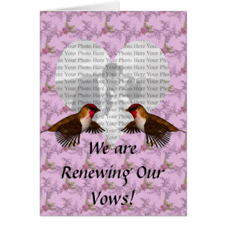 Hummingbird Floral Purple Colored Greeting Card