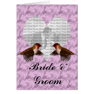 Hummingbird Floral Purple Greeting Card