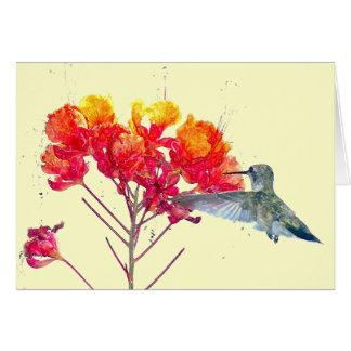 Hummingbird Flower Card