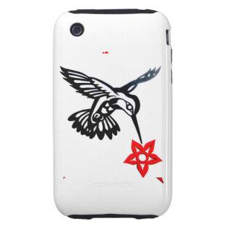Hummingbird & Flower Tough iPhone 3 Cover