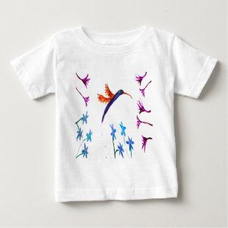Hummingbird flowers Bird Art Baby T-Shirt