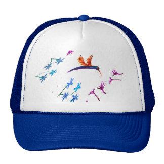 Hummingbird flowers Bird Art Trucker Hat