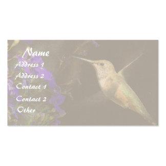 Hummingbird Flowers Business Card