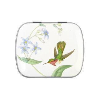 Hummingbird & Flowers Candy Tin