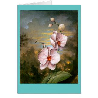 Hummingbird Flowers Card