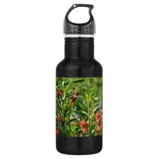 Hummingbird Flowers 18oz Water Bottle