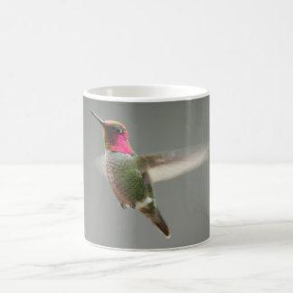 Hummingbird Flying Anna's Hummingbird Male Coffee Mug