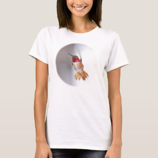 Hummingbird Flying Photo T-Shirt
